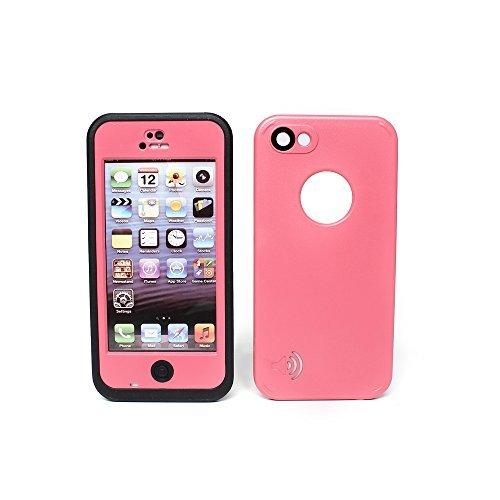 3C-Aone Waterproof Phone Case Cover For Apple iPhone 5C Shock-Absorbing Pumber Dirtproof (Pink)