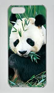 Giant Pandas Eating Bamboo Iphone 5 5S Hard Shell with Transparent Edges Cover Case by Lilyshouse