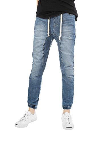 JD Apparel Mens Slim Fit Washed Denim Joggers 5XL Vintage