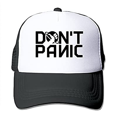 CYSKA Unisex-Adult Two-toned Hats Don't Panic Logo Fishing Caps Black