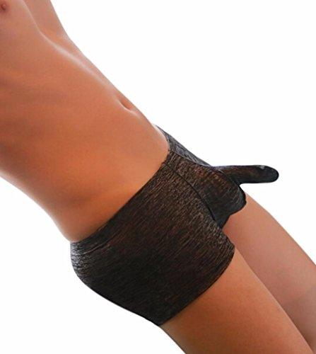 0 Shipping Trunks Sexy Underwear Men's Boxer Briefs Shorts Bulge Pouch Temptation Underpants (L, ()