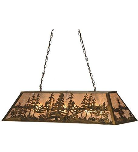 - Meyda Tiffany 13254 Antique Copper Craftsman / Mission Nine Light Island / Billiard Fixture