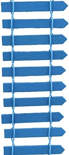 ABD Succulent Wooden Fence Landscaping Tool Diy Fairy Garden Miniature Dollhouse Bonsai Decorations Garden Accessories (Color : Light blue) Navy Blue