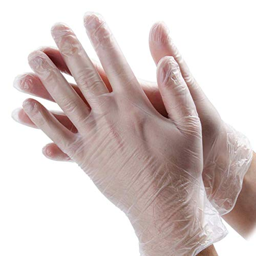 100 Pack Disposable Clear Plastic Gloves,Plastic Disposable Food Prep Glove,Disposable Polyethylene Work Gloves for…