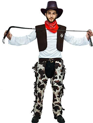Assless Chaps Cowboy Costumes - Men's Cowboy Adult Costume Set -