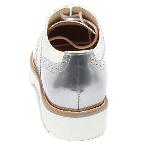 Bianco B1696 HOGAN FRANCESINA inglese scarpa bianco Argento shoe woman ROUTE donna sneaker rPq6RqW