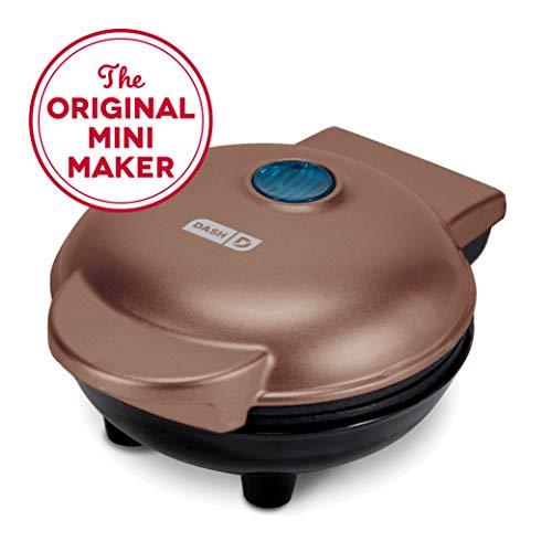 Dash Mini Maker: la mini máquina de hacer gofres para gofres individuales, paninis, hash browns, otros en los desplazamientos, desayuno, almuerzo o aperitivos, Cobre, compacto, 1