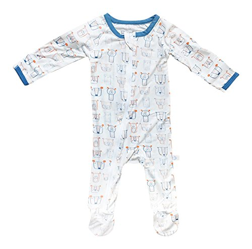 BESTAROO Baby Boy Doggie Daze Zippered Footie