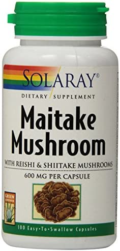 Solaray Organically Grown Fermented Mushroom Immune Complex 600 mg Healthy Immune Function Support 100 VegCaps