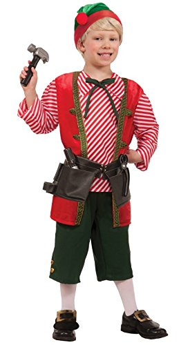 Forum Novelties Toy Maker Elf Child's Costume, Large -