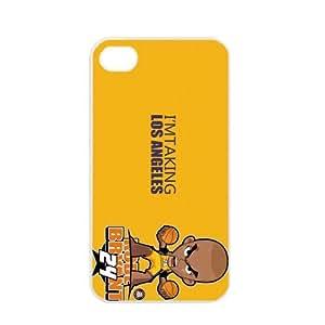 NBA Los Angeles Lakers Kobe Bryant Apple iPhone 4 / 4s TPU Soft Black or White case (White)