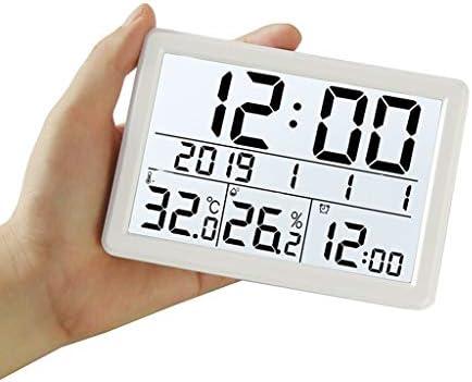 CHenXy デジタル電子サーモ湿度計、高精度屋内温度計、ハンギングそしてベンチトップの配置、目覚まし時計、スマートバックライト、家庭、オフィス、ベビールーム、白 湿度計温度計 (Color : White)