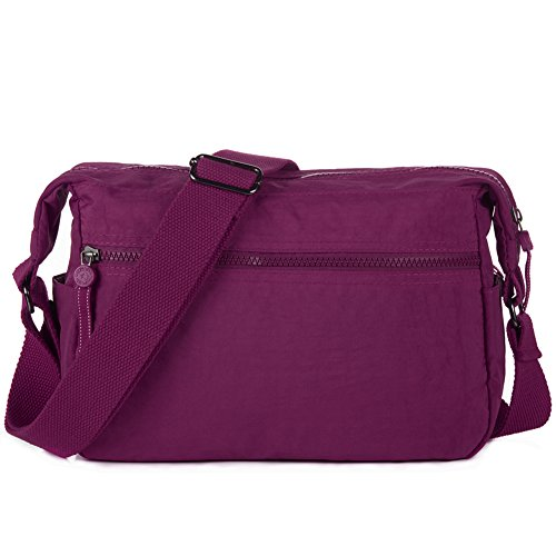 Mini 932 Violet Travel Bag Violet Shoulder 932 Nylon Purse Vivid Red Crossbody rqwHar