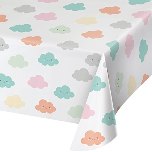 Creative Converting 332339 Sunshine Baby Shower Tablecover, One Size, Multicolor -