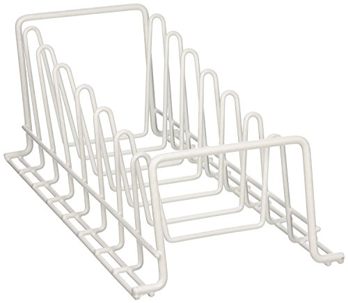 Vinyl Coated Wire Lid/Plate Rack, White
