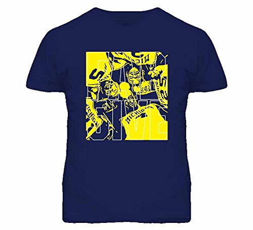 Heat Fab Tee (JDhfrk Tshirt Bandits Men's Michigan Fab Five College Basketball T-Shirt)