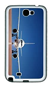 covers online Plane Airfield TPU White case/cover for samsung galaxy N7100/2
