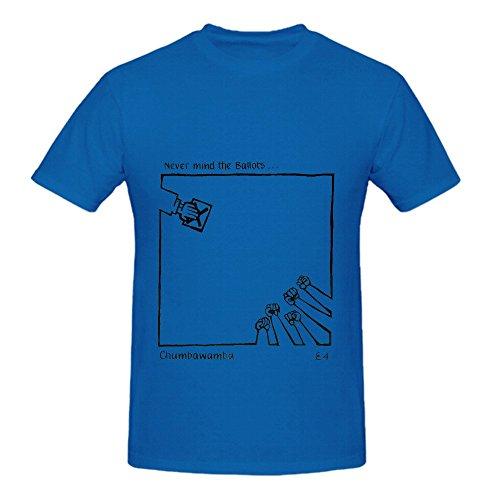 Chumbawamba Never Mind The Ballots Jazz Mens O Neck Printed T Shirt (Halloween Ballots)
