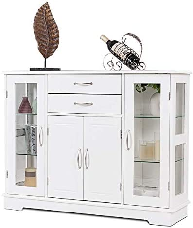 picture of Giantex Sideboard Buffet Server Storage Cabinet W/ 2 Drawers, 3