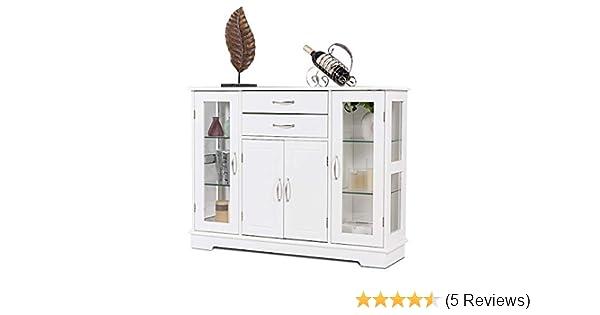 Amazon Com Giantex Sideboard Buffet Server Storage Cabinet W 2