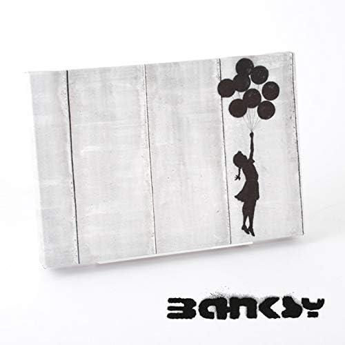 "BANKSY CANVAS ART SMALL キャンバス アートパネル ポスター スモール""Girl With Balloon"" 31.5cm × 21cm バンクシー アート 女の子 風船 bkart30girlwithballoon"