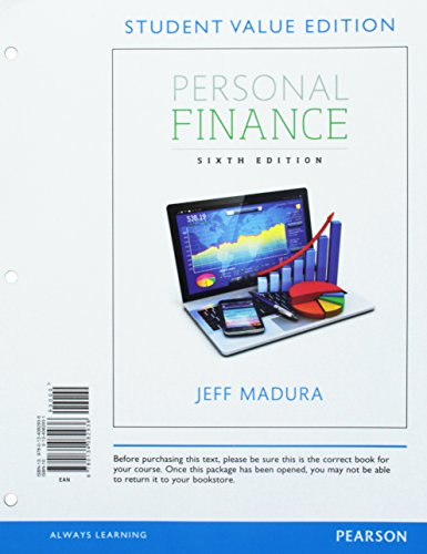 Personal Finance, Student Value Edition (Pearson Series in Finance)