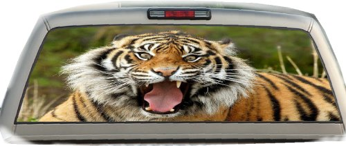 (Tiger #2- 22 Inches-by-65 Inches- Rear Window Graphics)