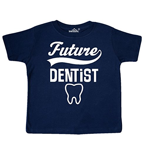 inktastic Future Dentist Kids Gift Toddler T-Shirt 4T Navy Blue - Future Toddler T-shirt