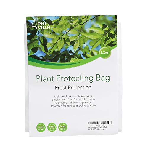 PHI VILLA Plant Protector Bag Frost Protection Cover Plant Cover, 1.2 oz, 70″ x 60″, 1-Pack