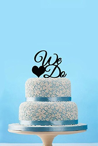 Initial We and Do Wedding Cake Topper Custom Any Word Cake Sign Personalized Gfit