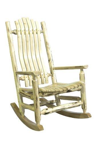 Montana Woodworks Montana Collection Log Rocker, Clear Lacquer Finish