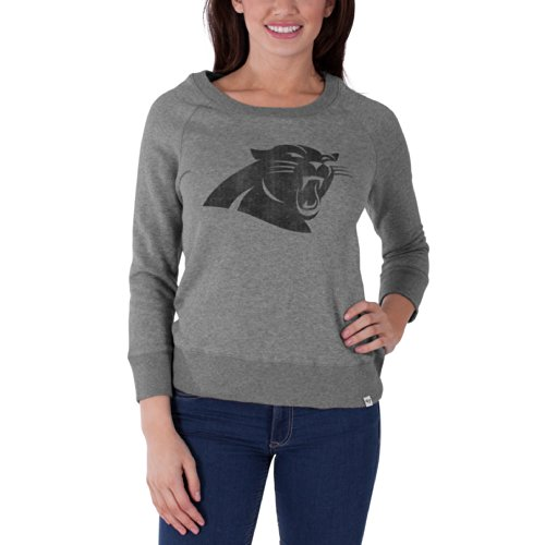 NFL Carolina Panthers Women's '47 Brand Glimmer Crew Neck Pullover, Slate Grey