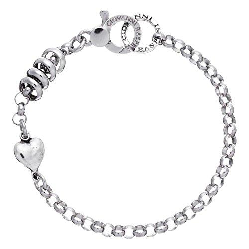Bracelet Base Giovanni Raspini Collection Roulette avec cœur en argent 9259211