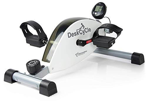 DeskCycle Desk Exercise Bike Pedal Exerciser, White (Renewed)