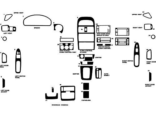 Rvinyl Rdash Dash Kit Decal Trim for Toyota Solara 1999-2003 - Wood Grain (Burlwood Matte) ()
