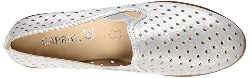 Silver Silver Caprice Metal Women's 920 Loafers Silver 24500 UnUBPx6Aq