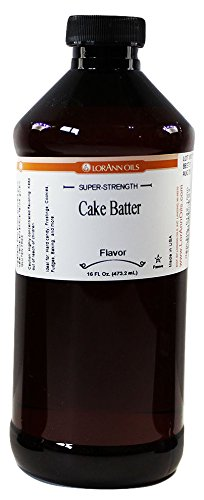 LorAnn Cake Batter Super Strength Flavor, 16 Ounce