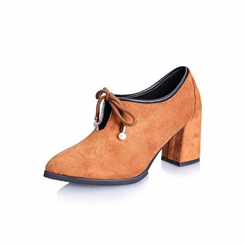 Las la Los Zapatos con Fósforo Mujeres de jengibre Solo Todos Grueso de de EUR34 Del Zapatos Manera Acentuado Tacones el un Altos Todo con Cómodo Lazo 5 Partido 1q8wxw7XC