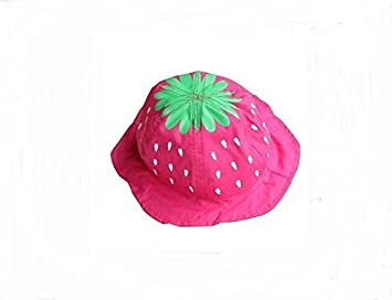 83fd4ff3566 Rejected all traditions Lovely Sweet Hot Pink Strawberry Bucket Hat Cap for Baby  Toddler   Child