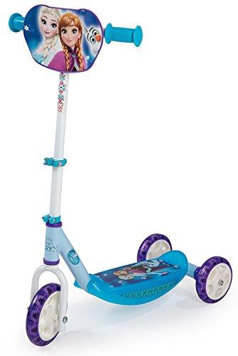 Smoby-750152 Patinete con 3 Ruedas, diseño Frozen, Color Azul (Simba Toys 750152)