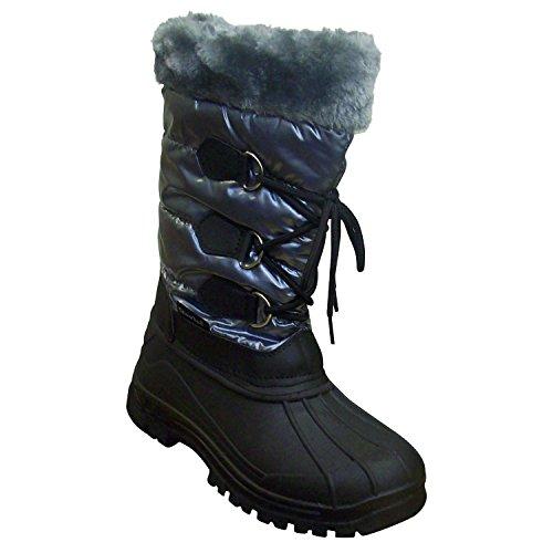 Snow Tec Women's Frost-7 Gray Mid Calf Snow Boots 10