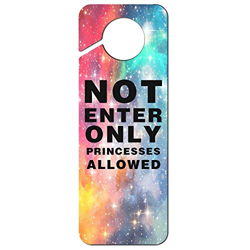 sth fun. White Graphics and More Stop Do Not Disturb Sign Plastic Door Knob Hanger Sign Not Enter Only Princesses - Knob Hangers Door Princess