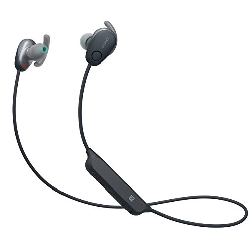 Sony SP600N Wireless Noise Canceling Sports In-Ear Headphones, Black (WI-SP600N/B) (Switch Digital Sony)
