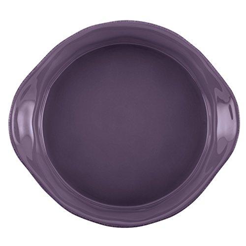 Rachael Ray 3-Piece Cucina Stoneware Round Casserole and Lid Set, Lavender