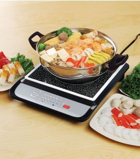 (Tatung Induction Cooker with Stainless Steel Pot - 1500 Watts(BLACK) by M.V. Trading)