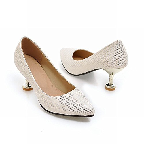 Gold Mee Toe Pointed Shoes Heel Women's Fashion Court Heel High Strange Shoes HZq4HxP