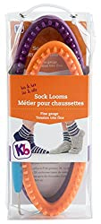 Authentic Knitting Board His & Her Sock Looms, Purpleorange