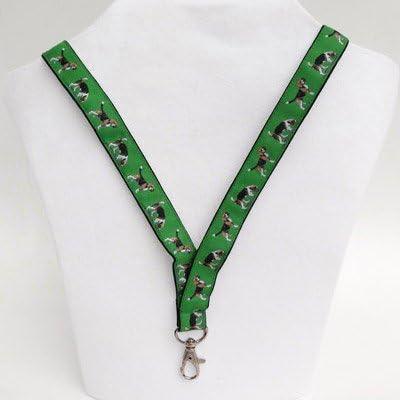 Perro Beagle Breed correas para el cuello para carné de identidad o llaves: Amazon.es: Productos para mascotas