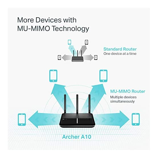 TP-Link AC2600 Smart WiFi Router - High Speed MU-MIMO Router, Dual Band, Gigabit, Beamforming, VPN Server, Smart Connect… 41fEnWnNniL. SS555