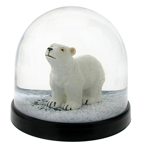 &Klevering Funny Snow Globe, Snowball with Polar Bear, 3.15 '' Hight 3.35 '' Diameter, 1031